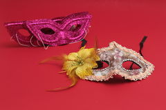 Mask for Purim celebration jewish carnival holiday and glitter background. se. Purim celebration concept jewish carnival holiday. selective focusnn Stock Images
