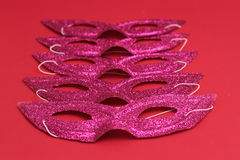 Mask for Purim celebration jewish carnival holiday and glitter background. se. Purim celebration concept jewish carnival holiday. selective focusnn Royalty Free Stock Photo