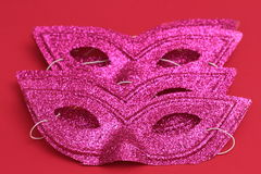 Mask for Purim celebration jewish carnival holiday and glitter background. se. Purim celebration concept jewish carnival holiday. selective focusnn Royalty Free Stock Image