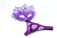 Mask and purple panties Royalty Free Stock Photography