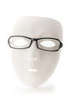 Mask and reading glasses isolated Royalty Free Stock Photo