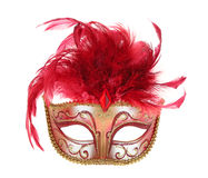 Mask in Red and Gold Royalty Free Stock Images