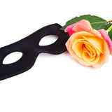 Mask and rose Royalty Free Stock Images