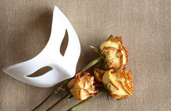 Mask And Roses Stock Photography