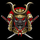 Mask samurai with katana Royalty Free Stock Images