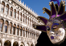 Mask on san marco square Stock Photos