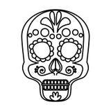 Mask of the santa death. Vector illustration design stock illustration