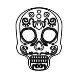 Mask of the santa death. Vector illustration design vector illustration