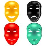 Mask set Royalty Free Stock Photos