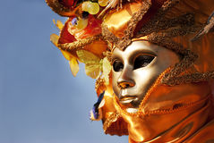 Mask and sky royalty free stock image