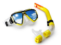 Mask and snorkel Royalty Free Stock Photography