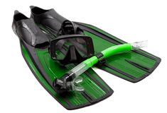 Mask, snorkel and flippers Stock Image