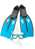 Mask, snorkel and flippers Stock Photos