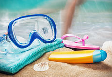 Mask and snorkel to swim Royalty Free Stock Photography