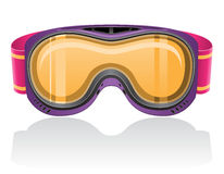 Mask for snowboarding and ski vector illustration Stock Photography