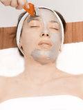 Mask.Spa facial Photographie stock