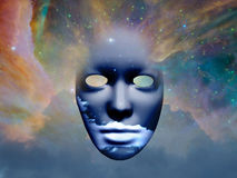 Mask in the space. Mask with clouds in the space Some elements provided courtesy of NASAn Royalty Free Stock Photography