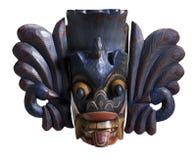 Mask from Sri Lanka. Wooden Sri Lankan mask in white back Stock Images