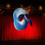 Mask. Stereoscopic mask  on theater background Royalty Free Stock Photo