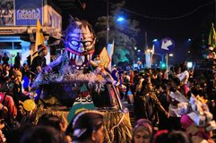 Mask Street art car, Yogyakarta city festival. Yogyakarta, Indonesia - 7 October 2014: 258th city anniversary - Car is creatively decorated to look like a mask Royalty Free Stock Image