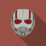 Mask of super hero in a flat design. Red colour. Vector illustration royalty free illustration
