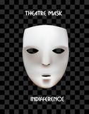 Mask of the theater on a checkered background. Royalty Free Stock Image