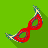 Mask for thematic parties.Party and parties single icon in flat style vector symbol stock illustration. Stock Photos