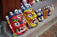 Mask tibet style at souvenir shop Stock Photos