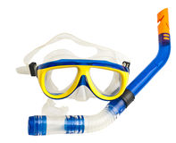 Mask and tube for diving under water Stock Image