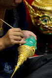 Mask used in Thai performance Royalty Free Stock Photography