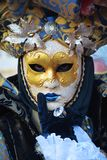 Mask and the Venetian carnival, Venice Stock Images