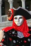 Mask in Venice. During the Carnival, hundreds of people wearing wonderful colourful costumes and masks come to Venice from all over the world stock photos