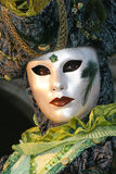 Mask in Venice. During the Carnival, hundreds of people wearing wonderful colourful costumes and masks come to Venice from all over the world royalty free stock photography