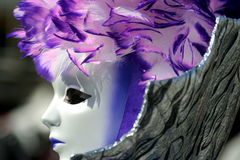 Mask in Venice Carnival Stock Photo