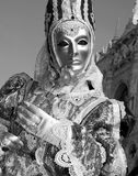 Mask from venice carnival - silver royalty free stock image