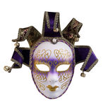Mask of Venice. Female mask with gold bells for carnival in Venice, Italy Stock Images