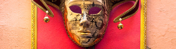 Mask in Venice Stock Image