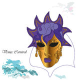 Mask of Venice. Vector illustration background with venetian mask at the carnival Royalty Free Stock Images