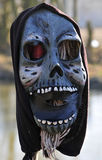 Mask. Weird mask on prow of canal boat Royalty Free Stock Image