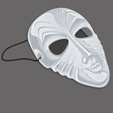 Mask white. White parcelain mask, theater mask Royalty Free Stock Image