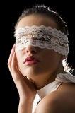 Mask and white lace Stock Photo