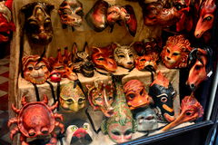 A Mask Window Display Stock Images