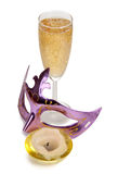 Mask and wineglass Royalty Free Stock Photos
