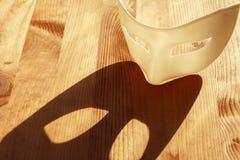 Mask On Wood Royalty Free Stock Image