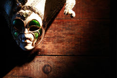 Mask On Wood Royalty Free Stock Photo