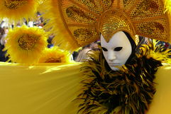 Mask in Yellow Royalty Free Stock Image
