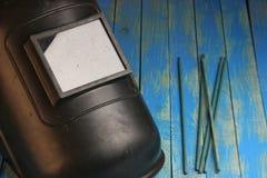Maska dla elektrycznego spawu Zdjęcie Stock