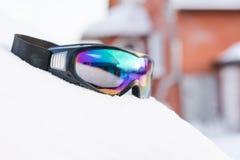 Maska dla jazda na snowboardzie Fotografia Royalty Free