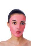maska facial dziewczyny fotografia stock
