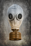 Maska gazowa na szarości tle Zdjęcia Royalty Free